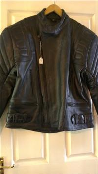 Black leather bikers jacket
