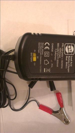 Motorbike battery charger